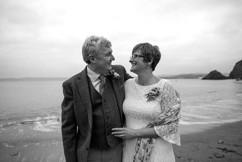 A Beach Wedding in Cornwall at Polkerris, photographed by Tracey Warbey Photography - Preview