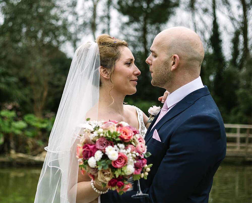 A Spring Wedding in Cornwall at The Emerald, photographed by Tracey Warbey Photography - The groom serenades an emotional bride (crop)
