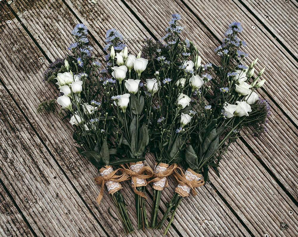 An English Country Tipi Wedding in North Cornwall Image 10 Bridesmaid bouquets
