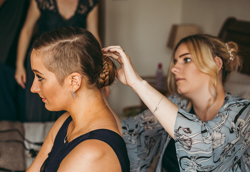 An English Country Tipi Wedding in North Cornwall Image 14 Hair Up