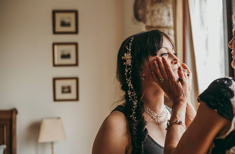 An English Country Tipi Wedding in North Cornwall Image 20 Bride and Mother love
