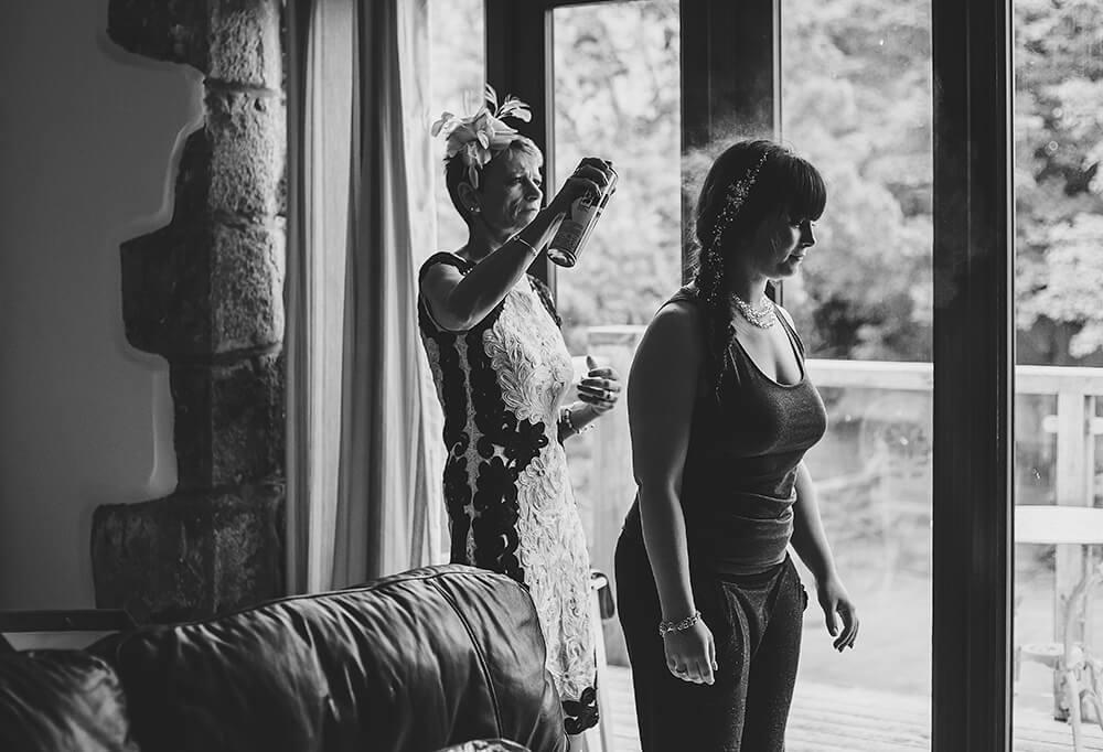 An English Country Tipi Wedding in North Cornwall Image 23 Hairspray
