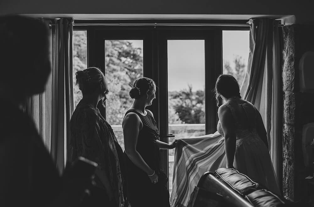 An English Country Tipi Wedding in North Cornwall Image 32 Don't let him see me