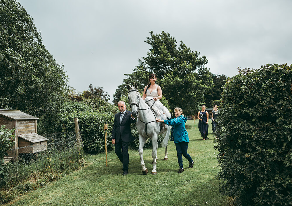 An English Country Tipi Wedding in North Cornwall Image 38 Here comes the Bride
