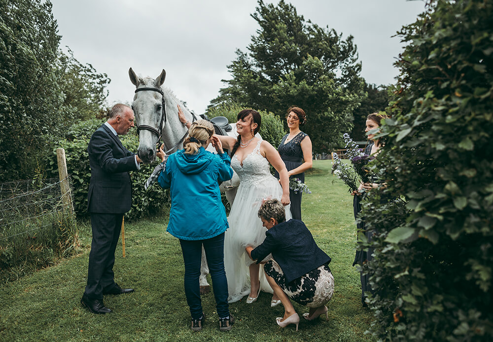 An English Country Tipi Wedding in North Cornwall Image 42 Well done