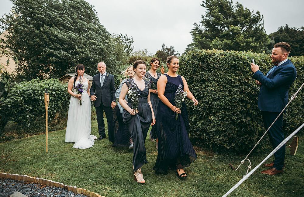 An English Country Tipi Wedding in North Cornwall Image 43 Brides arrival