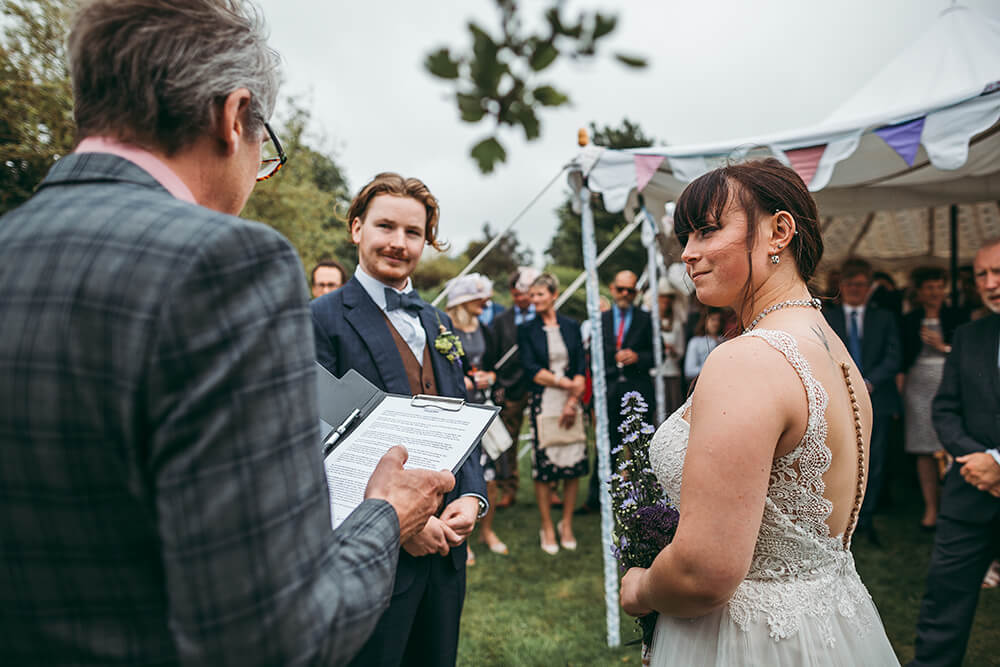 An English Country Tipi Wedding in North Cornwall Image 45 Ceremony