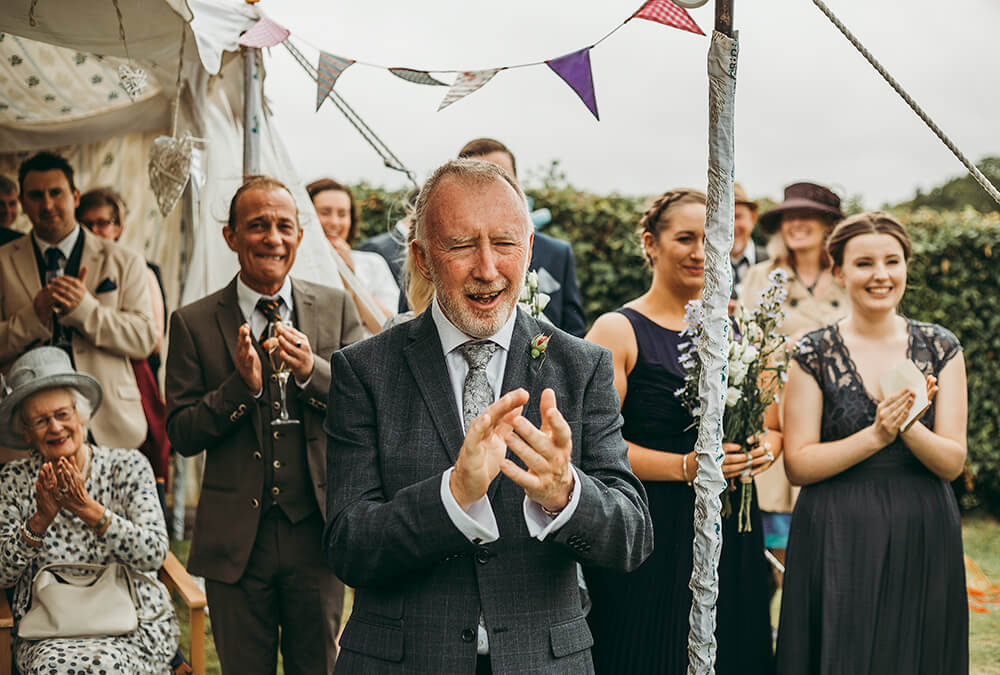 An English Country Tipi Wedding in North Cornwall Image 51 Father of the Bride