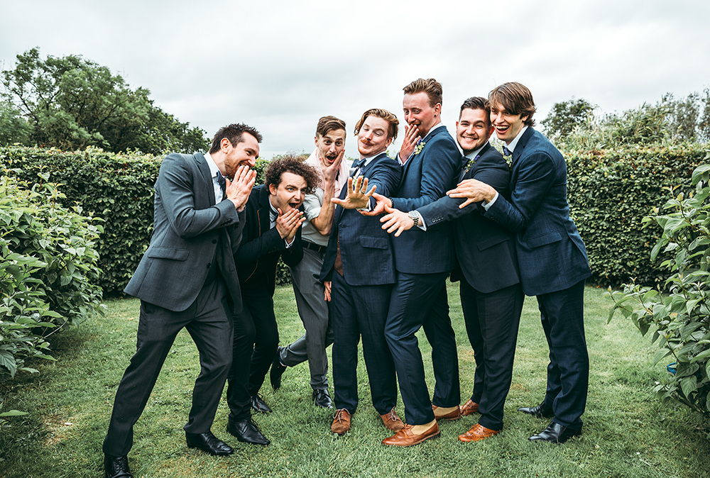 An English Country Tipi Wedding in North Cornwall Image 58 Grooms men