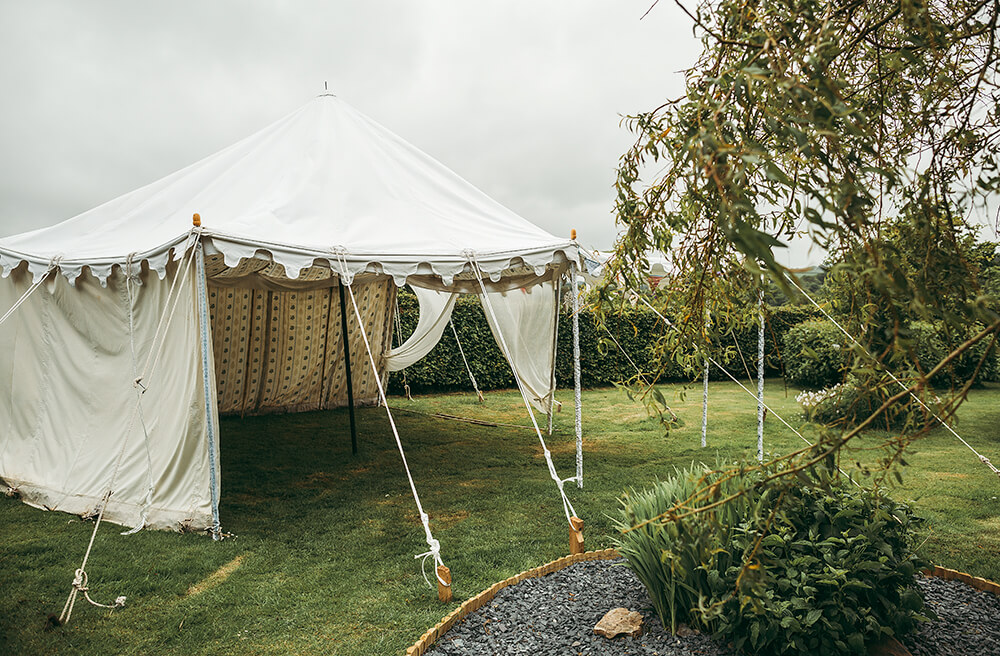 An English Country Tipi Wedding in North Cornwall Image 6 Ceremony tent