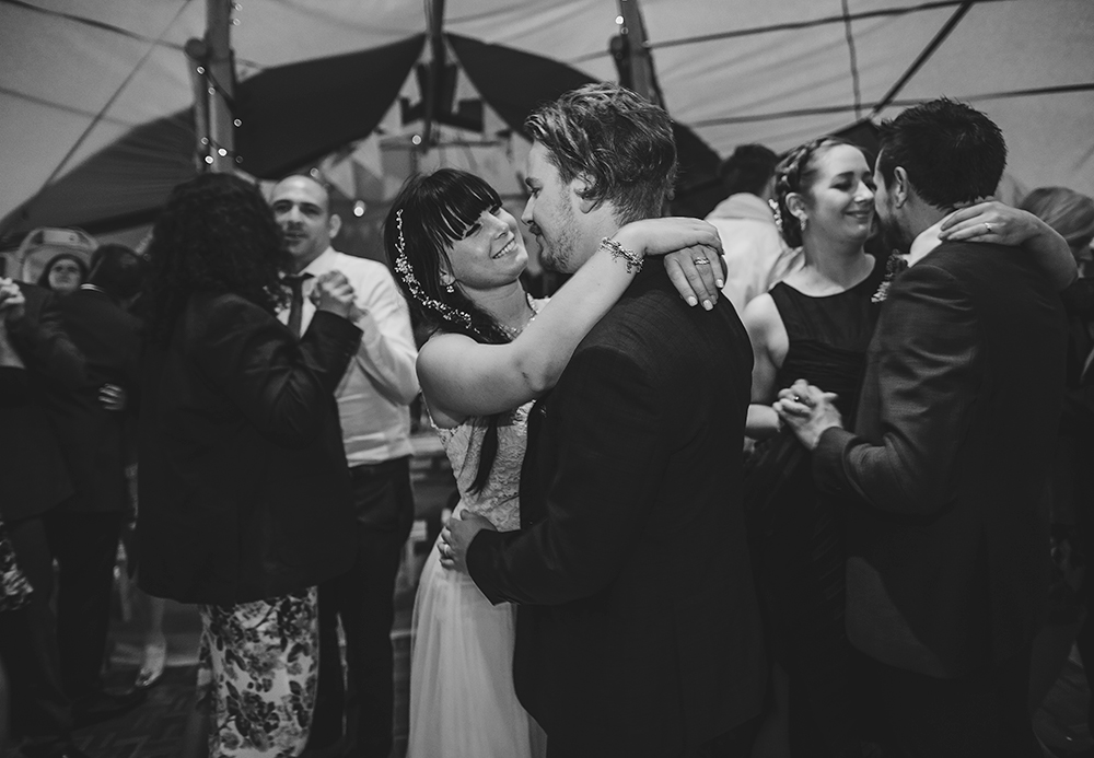 An English Country Tipi Wedding in North Cornwall Image 68 First dance