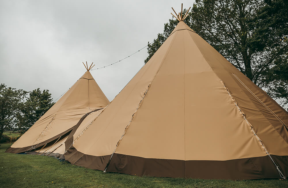 An English Country Tipi Wedding in North Cornwall Image 7 Tipi