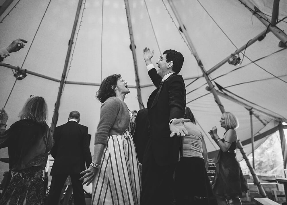 An English Country Tipi Wedding in North Cornwall Image 71 Couple dancing