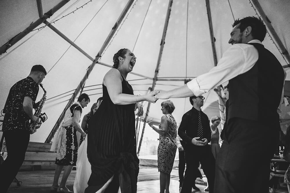 An English Country Tipi Wedding in North Cornwall Image 73 LOL