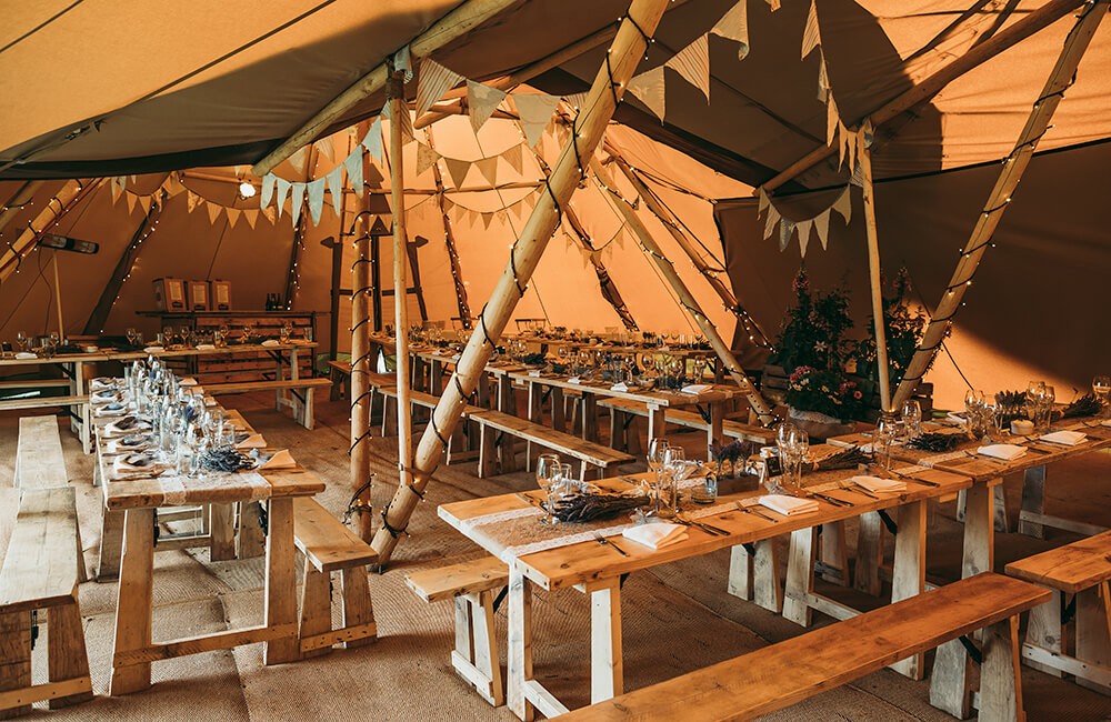 An English Country Tipi Wedding in North Cornwall Image 8 Tipi decor