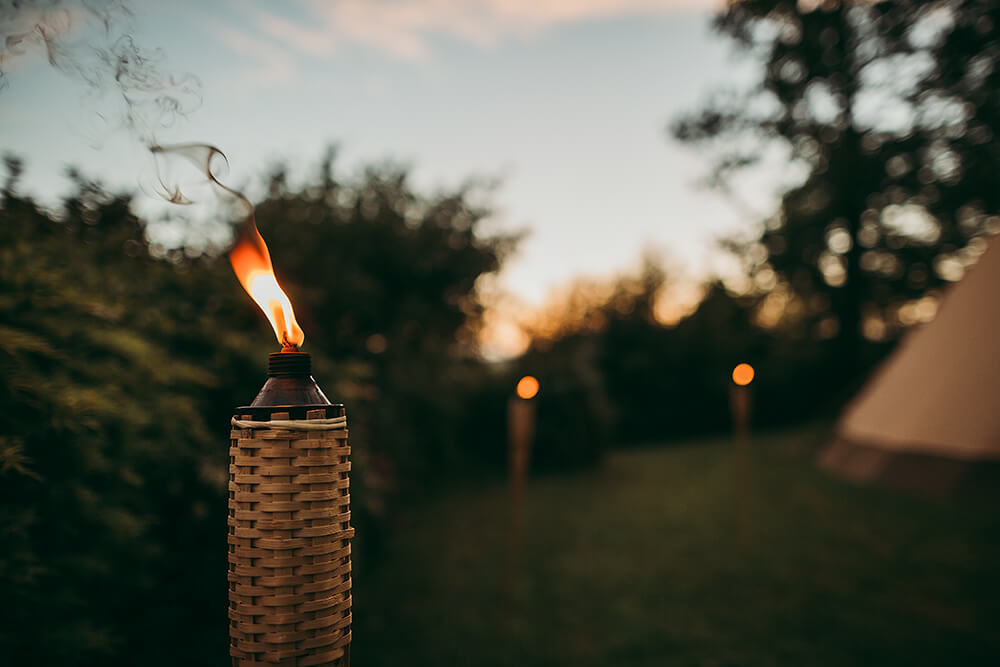An English Country Tipi Wedding in North Cornwall Image 80 Outdoor lighting