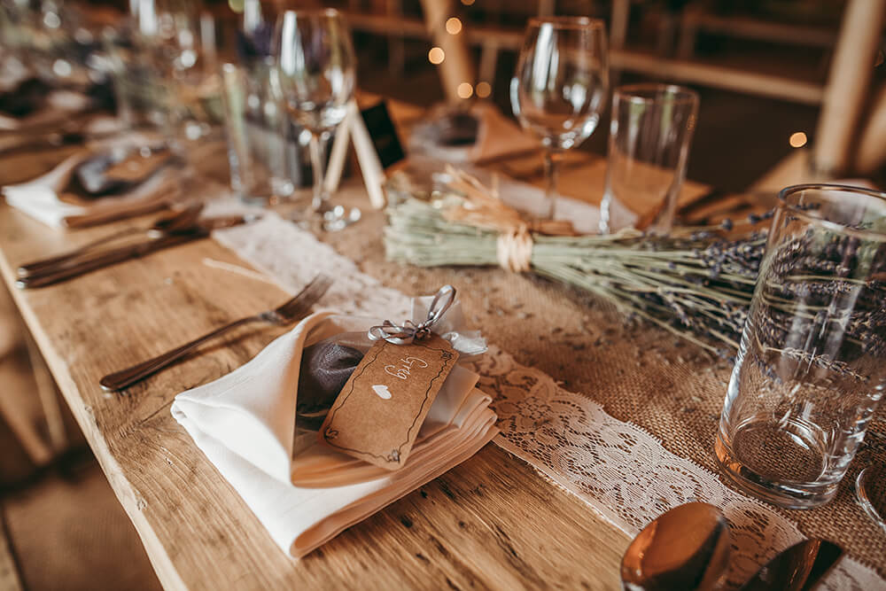 An English Country Tipi Wedding in North Cornwall Image 9 Favours
