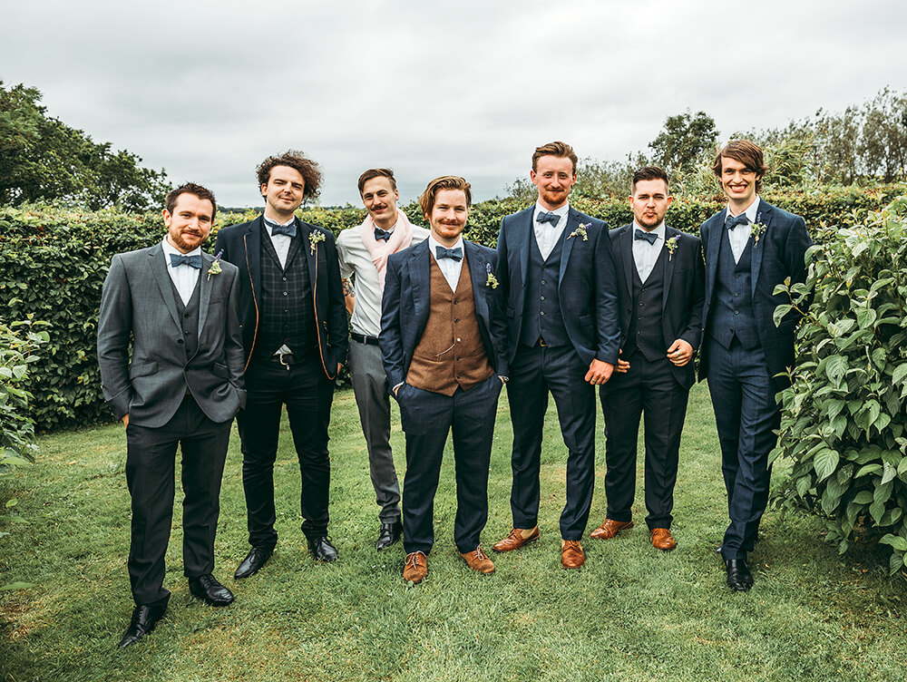 An English Country Tipi Wedding in North Cornwall Groomsmen
