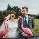 Preview shot from Chris and Isobel's flamingo farm wedding in Cornwall