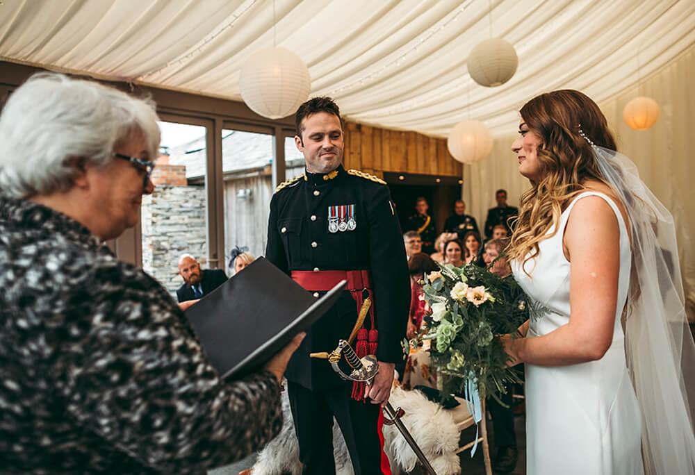 A military wedding at Trevenna Barns - Image 33