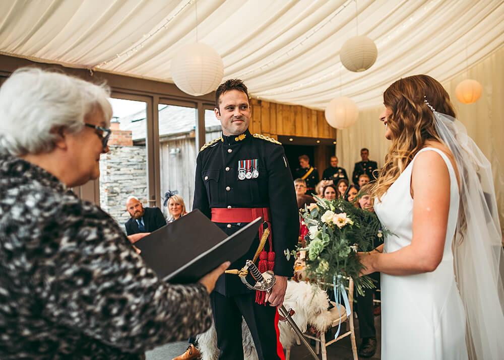 A military wedding at Trevenna Barns - Image 34