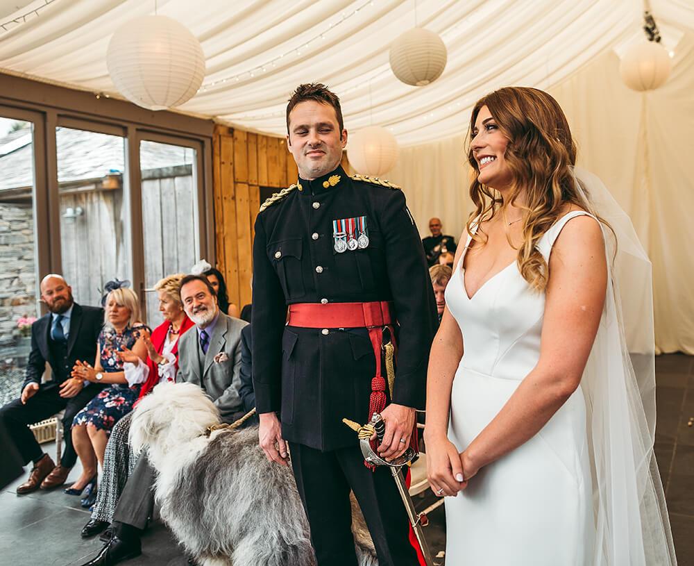 A military wedding at Trevenna Barns - Image 36