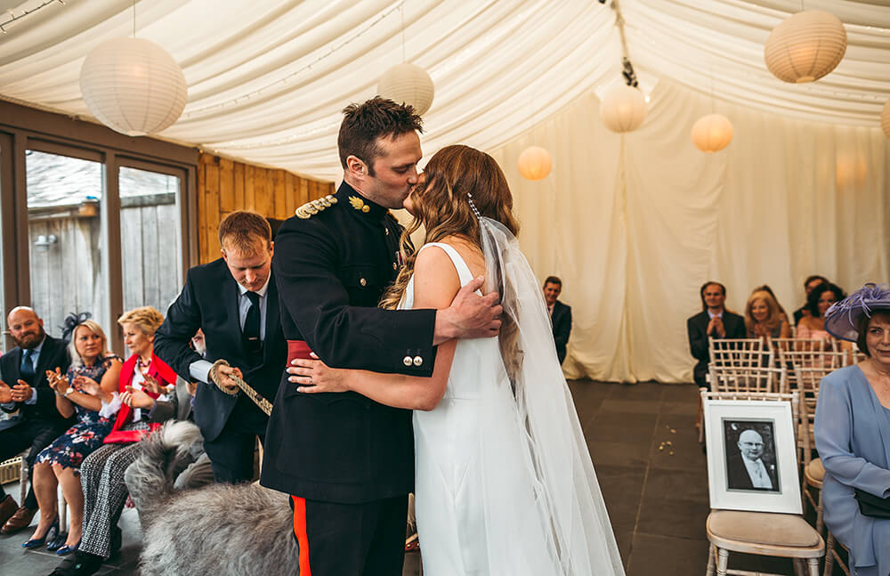 A military wedding at Trevenna Barns - Image 37