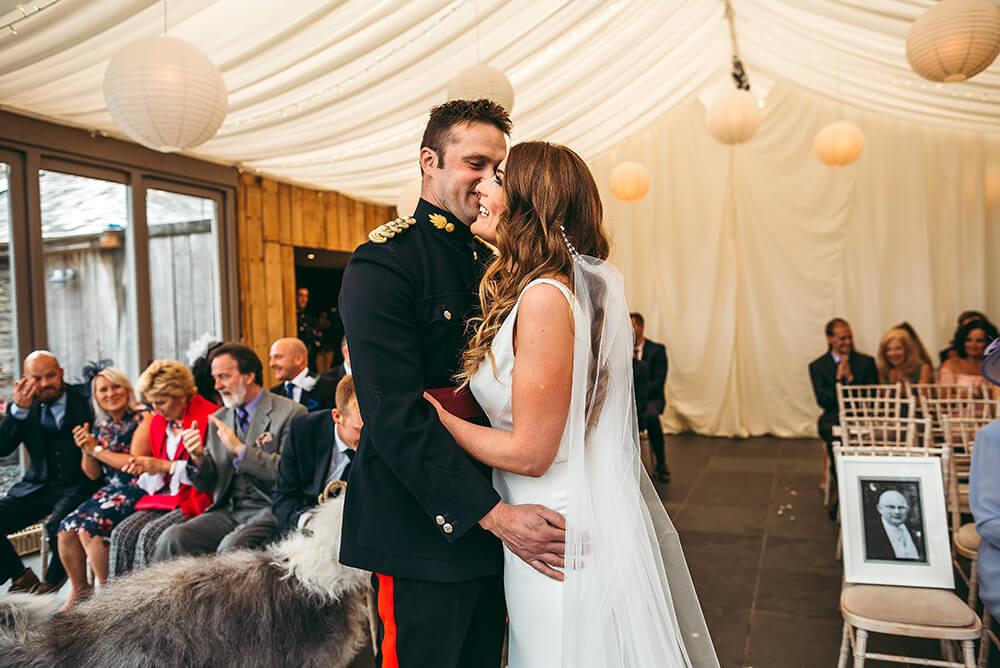 A military wedding at Trevenna Barns - Image 38