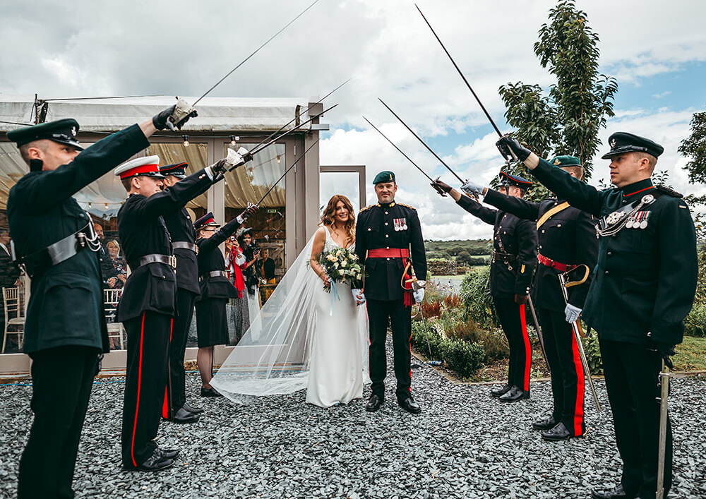 A military wedding at Trevenna Barns - Image 39