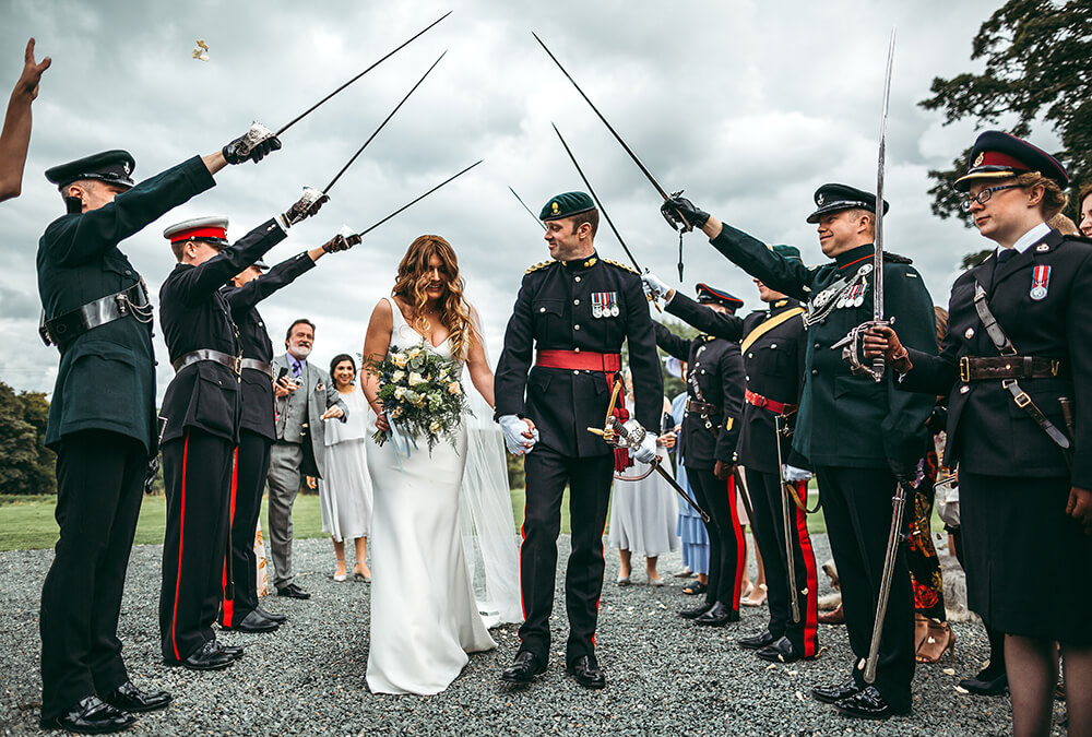 A military wedding at Trevenna Barns - Image 43