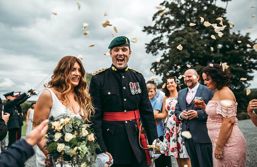 A military wedding at Trevenna Barns - Image 44