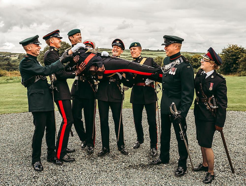 A military wedding at Trevenna Barns - Image 45