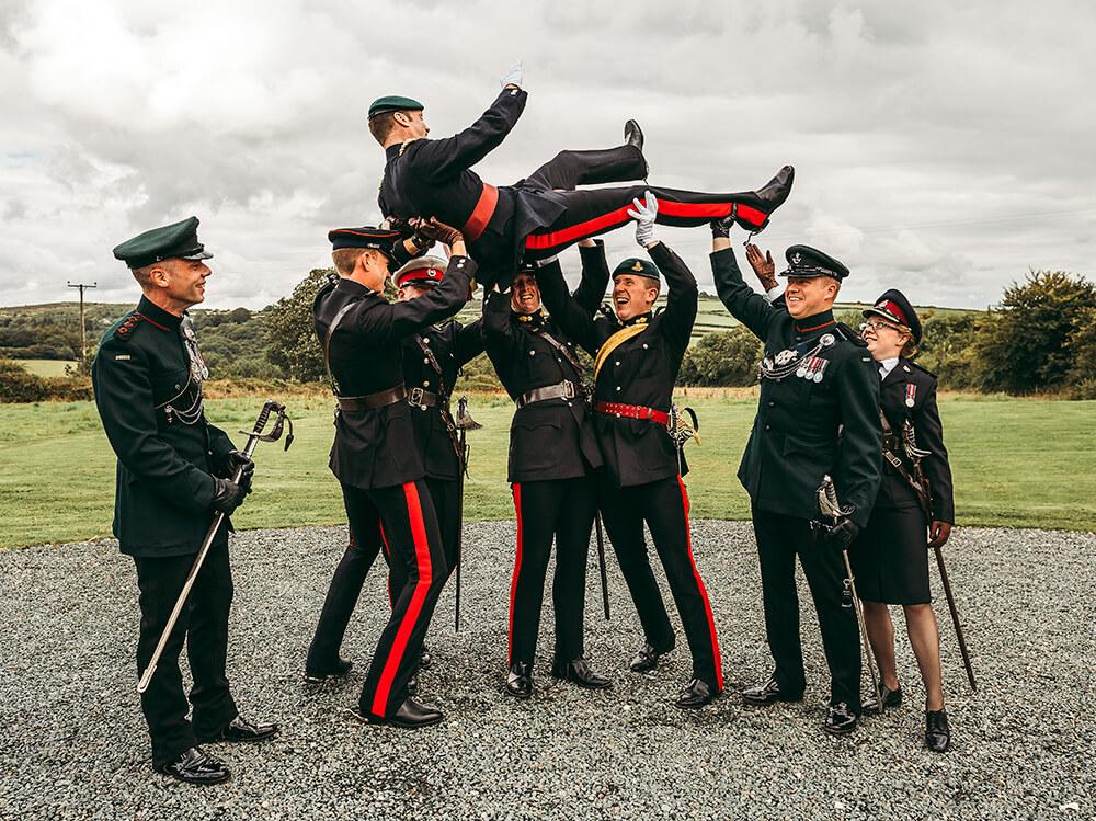 A military wedding at Trevenna Barns - Image 46