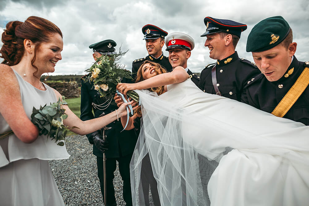 A military wedding at Trevenna Barns - Image 47