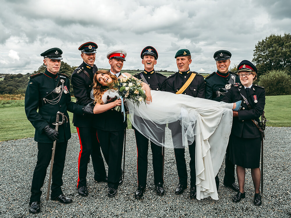 A military wedding at Trevenna Barns - Image 48