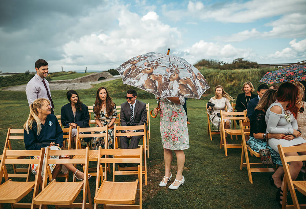 A coastal fort wedding at Whitsand Bay - Image 21