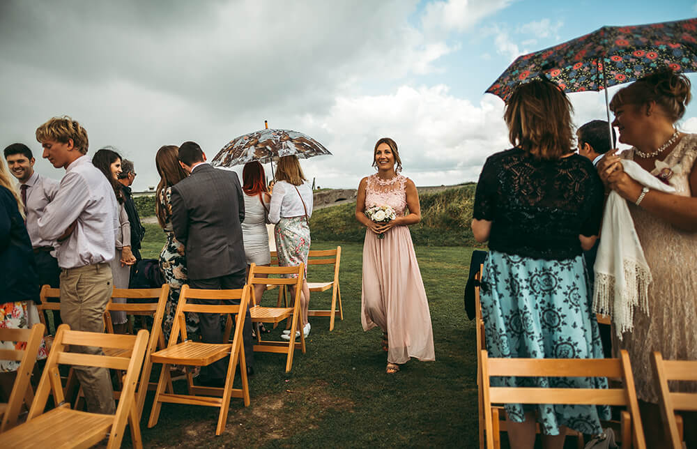 A coastal fort wedding at Whitsand Bay - Image 22