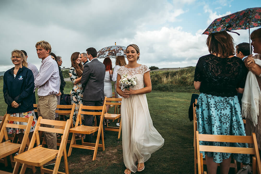 A coastal fort wedding at Whitsand Bay - Image 23
