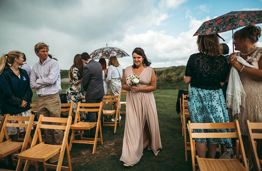 A coastal fort wedding at Whitsand Bay - Image 24