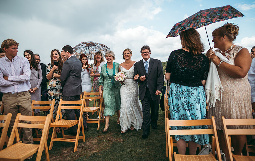 A coastal fort wedding at Whitsand Bay - Image 26