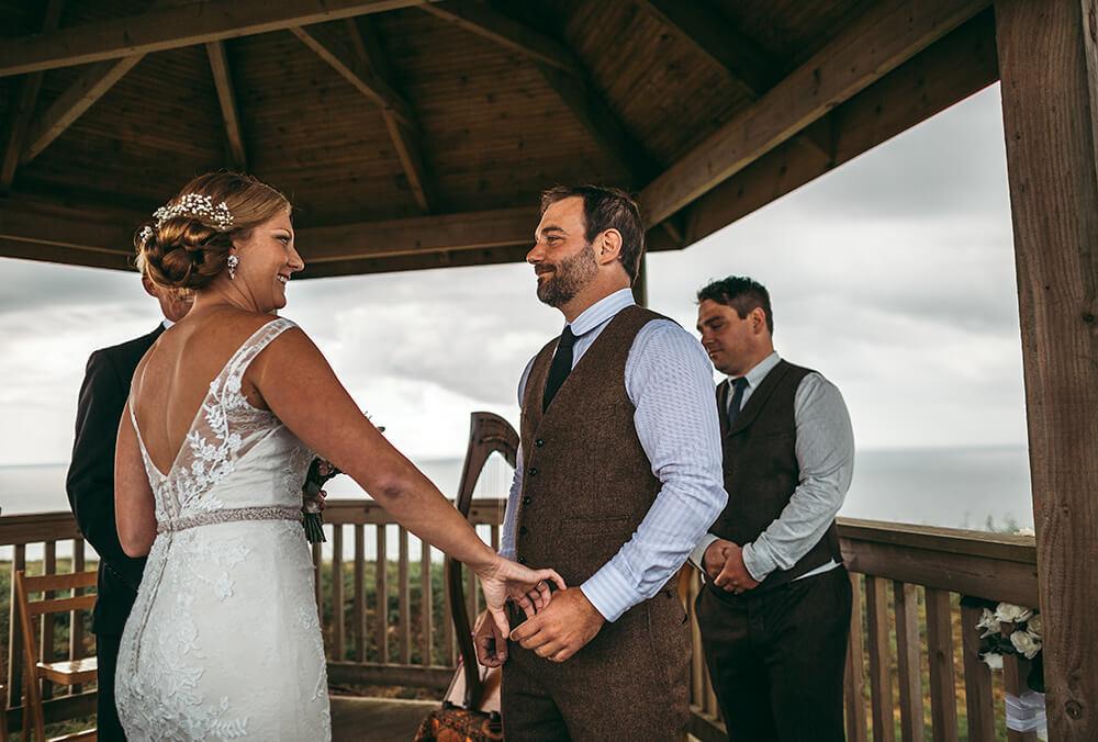 A coastal fort wedding at Whitsand Bay - Image 28
