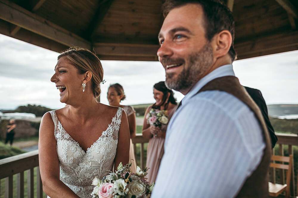 A coastal fort wedding at Whitsand Bay - Image 30