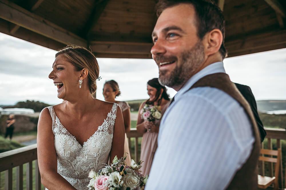 A coastal fort wedding at Whitsand Bay - Image 30