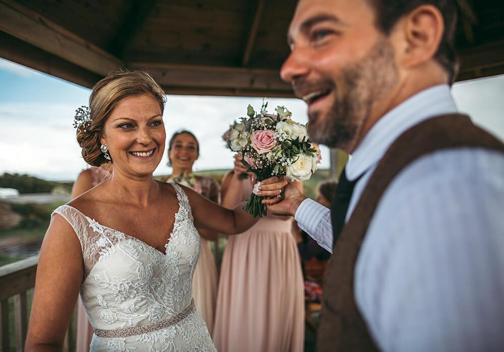 A coastal fort wedding at Whitsand Bay - Image 36