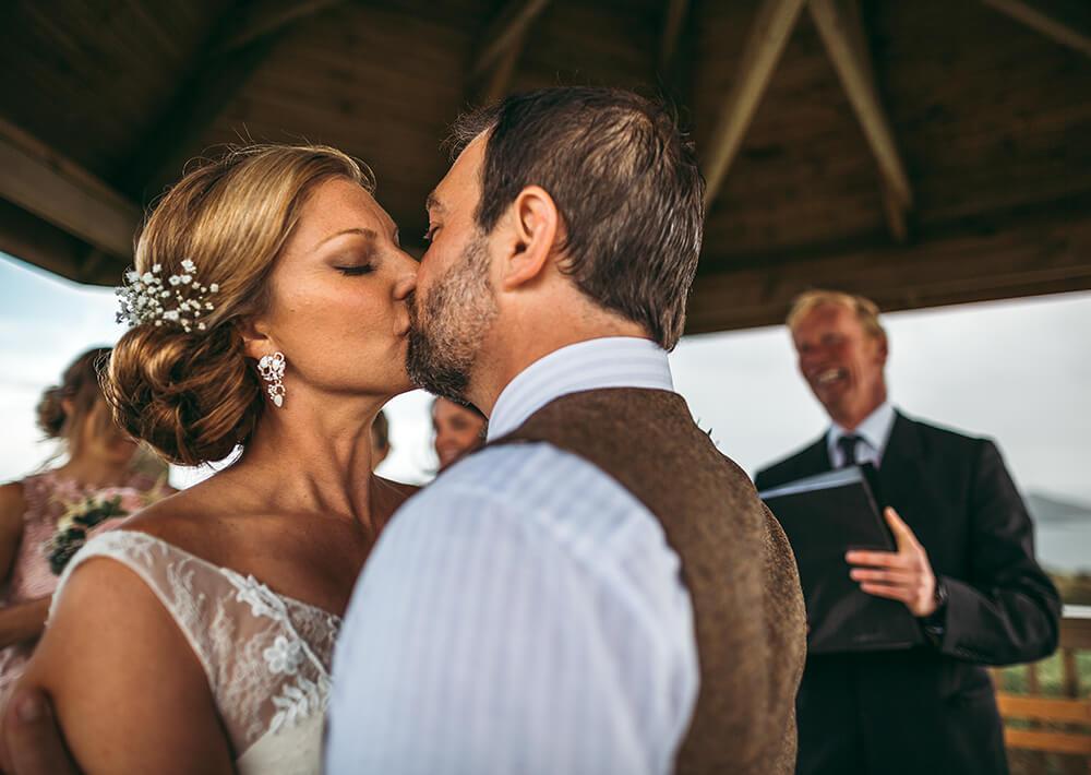A coastal fort wedding at Whitsand Bay - Image 37