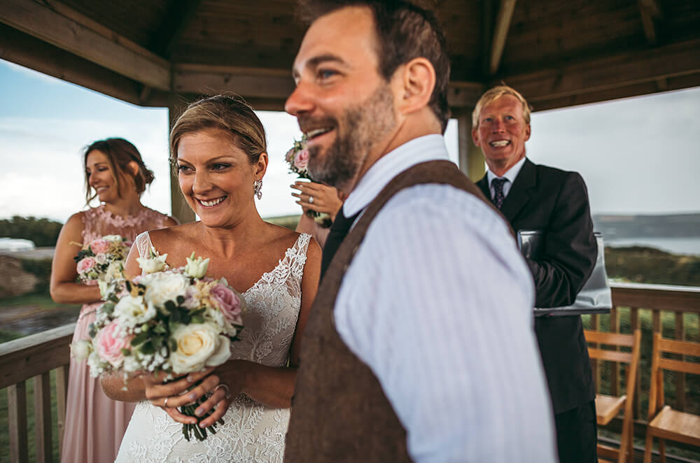 A coastal fort wedding at Whitsand Bay - Image 38