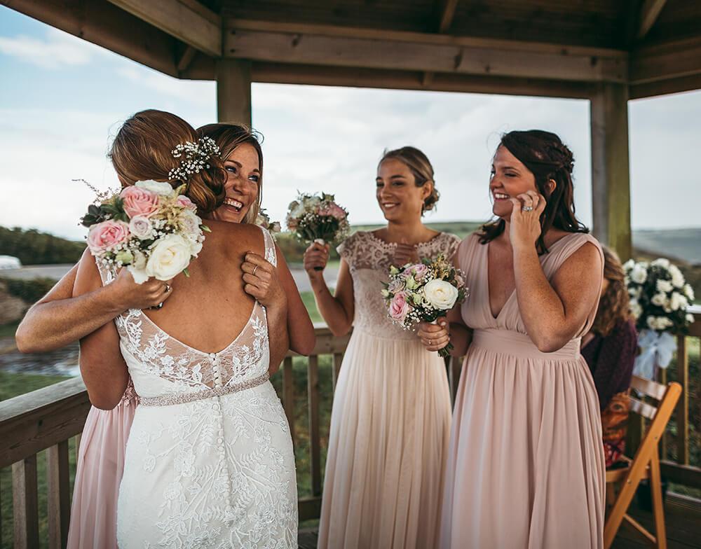 A coastal fort wedding at Whitsand Bay - Image 39