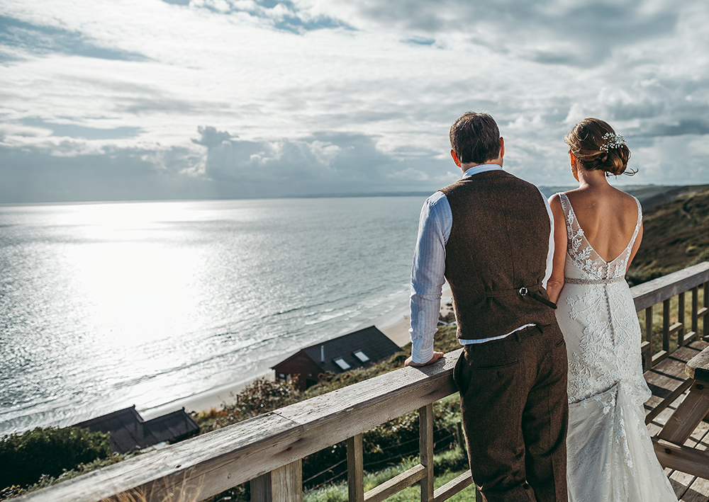 A coastal fort wedding at Whitsand Bay - Image 44
