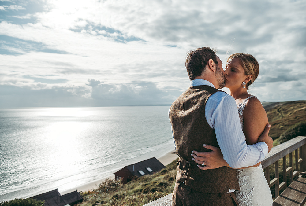 A coastal fort wedding at Whitsand Bay - Image 45
