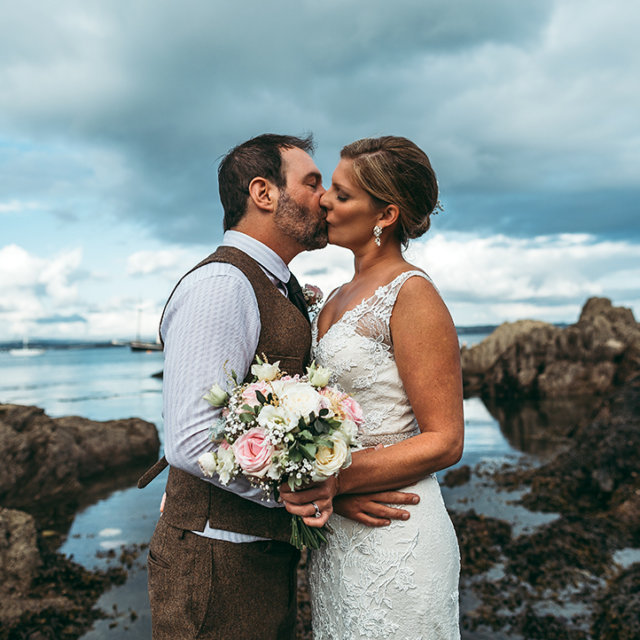 Meredith & Alex's wedding at Whitsand Bay Fort and Cawsand Bay
